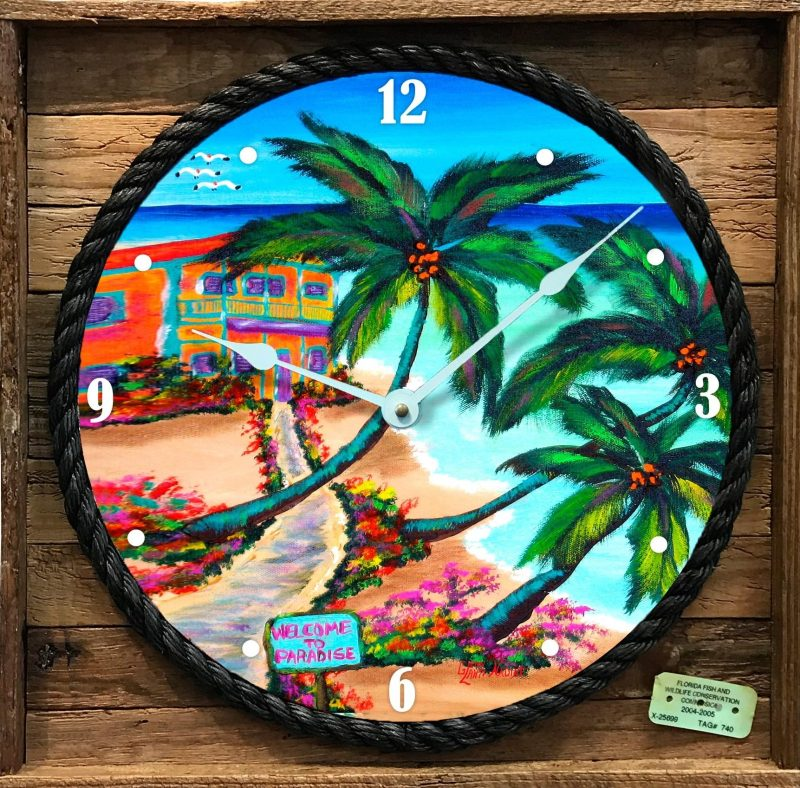 """PATHWAY TO PARADISE "" FRAMED CLOCK"
