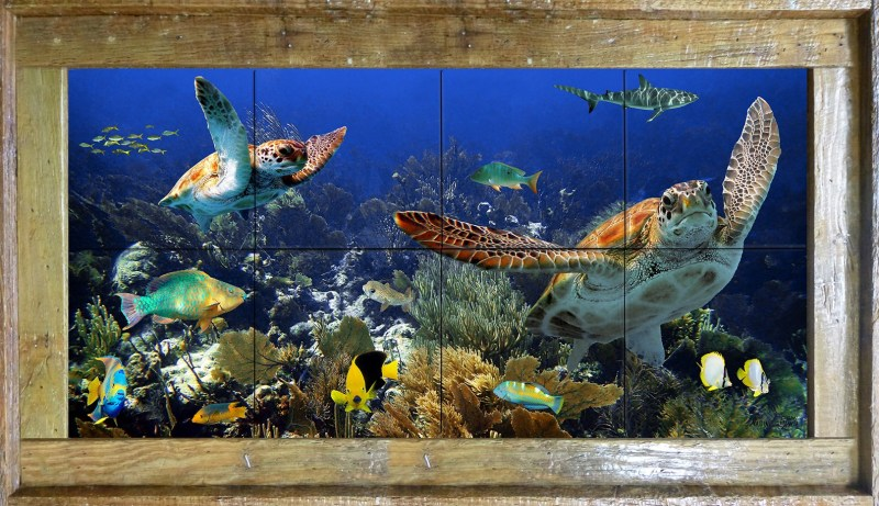 Deep Diving With Friends Tile Mural