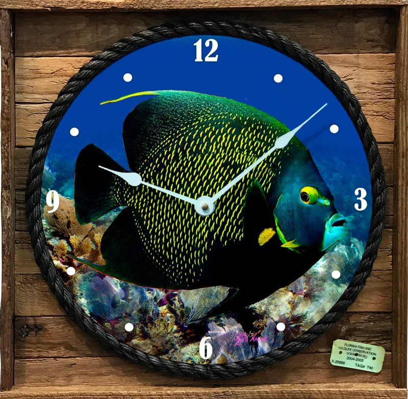 French Angelfish Clock