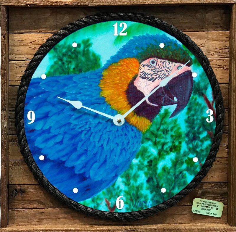 Colors of the Tropics Framed Clock