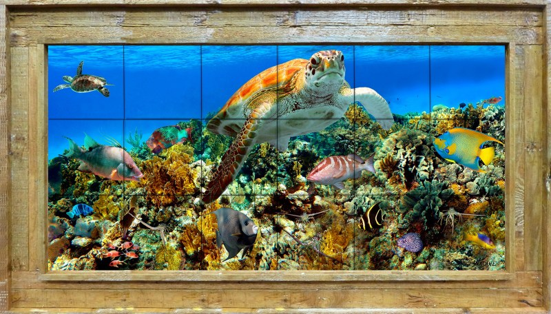 Coral Reef Tile Mural Large