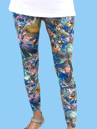 colorful ladies leggings with camo style of all turtle photographs