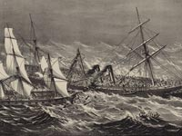 Sinking of the Steamship Ville du Havre.