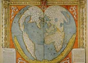 Oronce Fine (b. 1494-d. 1555), Map of the World, 1534-36, Department of Maps and Plans, Rés. Ge DD 2987 (63), Pape