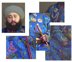 Montage of image pieces showing color adjustments