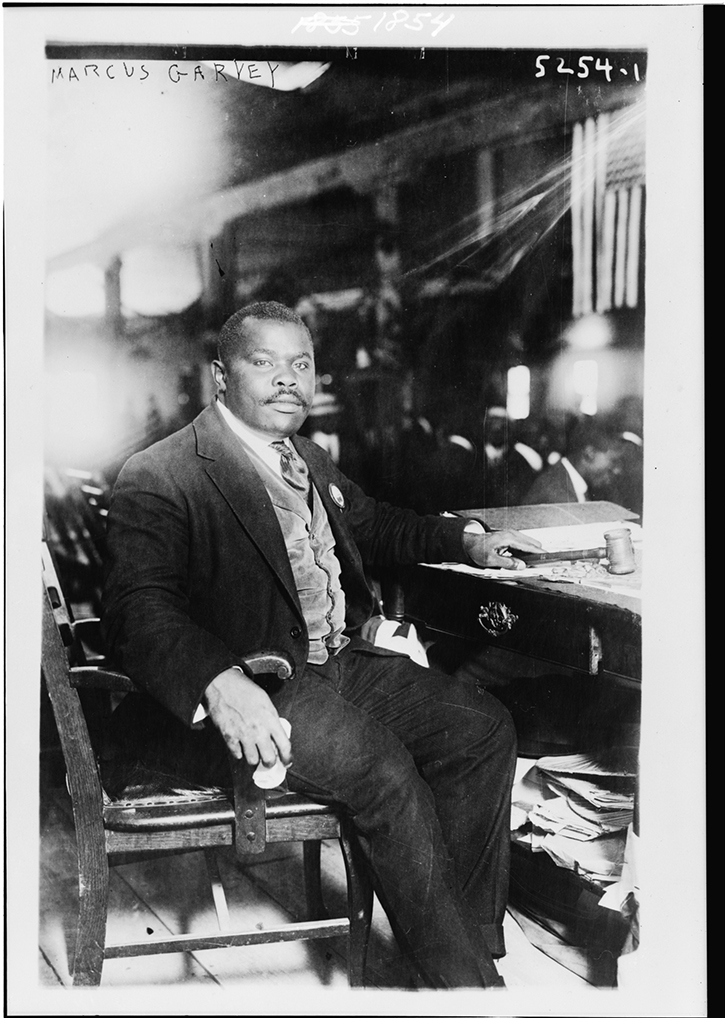 Marcus Garvey, August 5, 1924.  Photographer, and location, unknown.  Library of Congress collection.