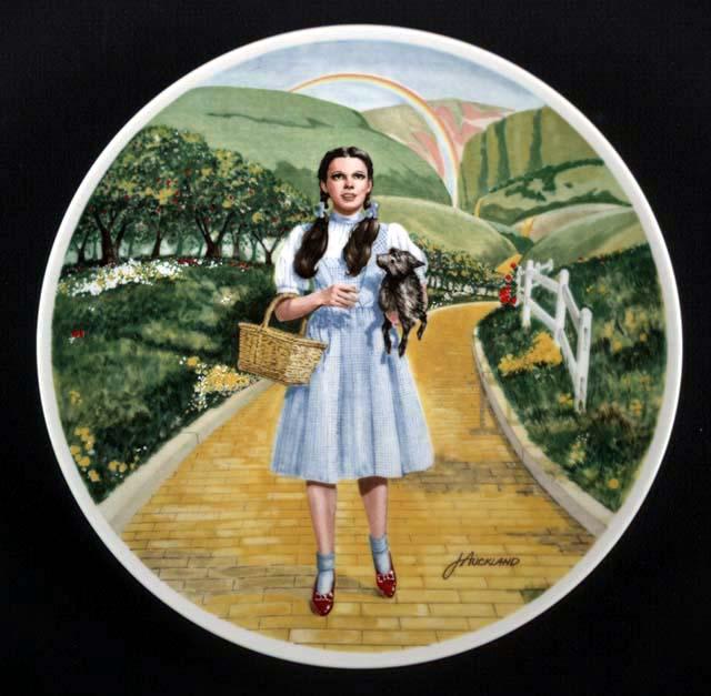 Judy en el camino de baldosas amarillas