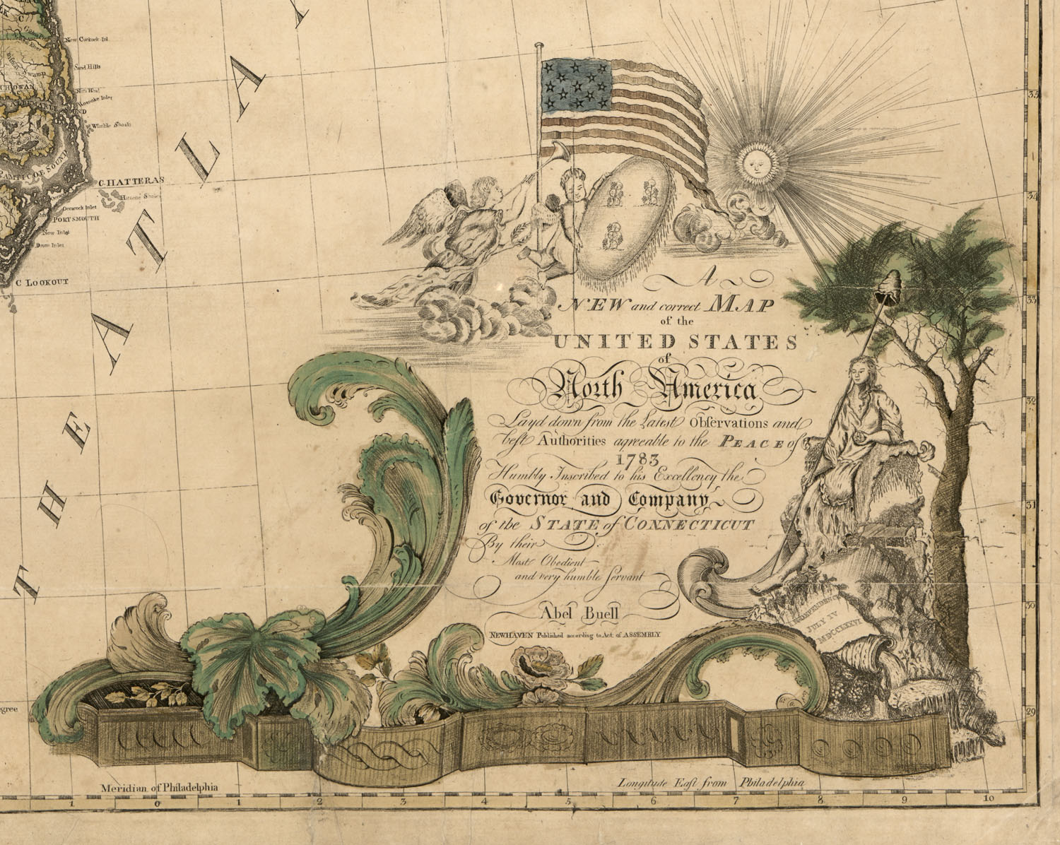Abel Buell Map Of U S Geography And Map Reading Room Library Of Congress