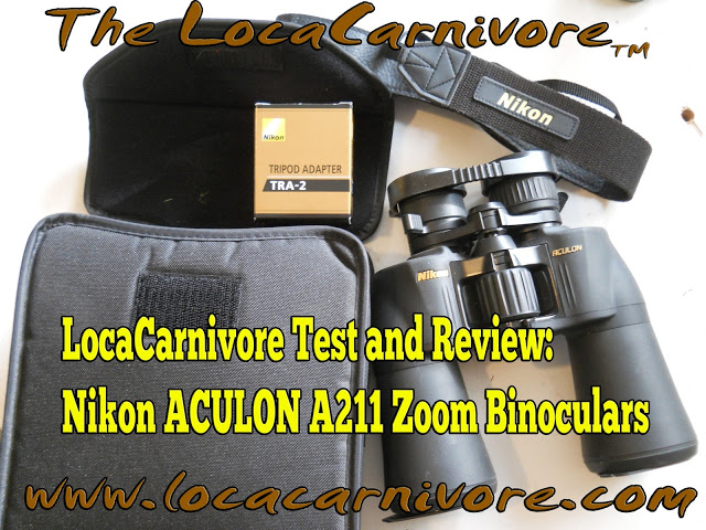 LocaCarnivore Test and Review:  Nikon ACULON A211 Zoom Binoculars