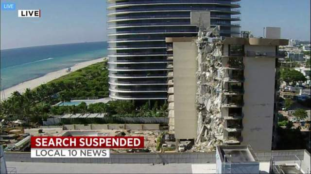 Surfside building collapse: Engineers prepare for demolition; search for 121 suspended with death toll at 24