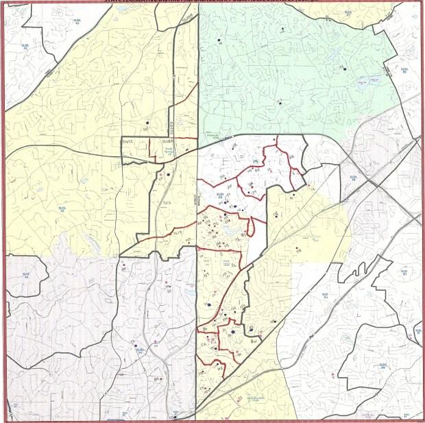 Georgia HD 80 map