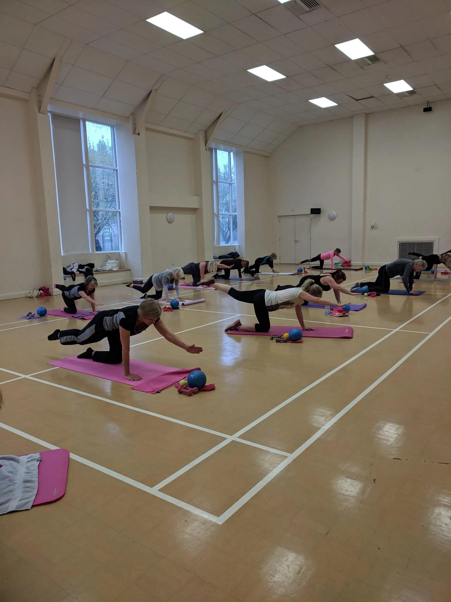 Fitness class in Cambridge
