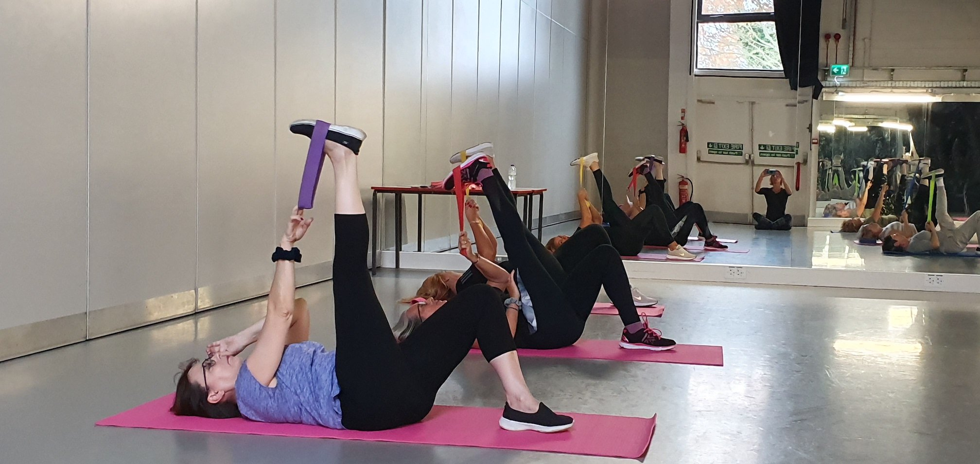 Stretching in exercise class