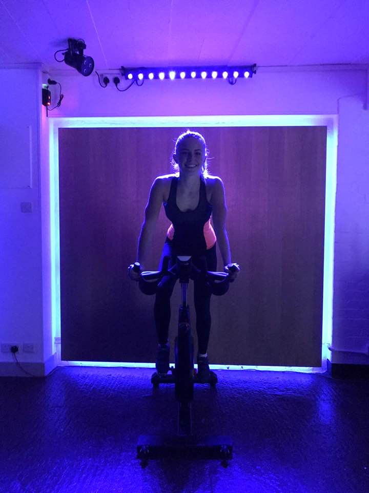 Cycling spin class in Hillingdon area of London