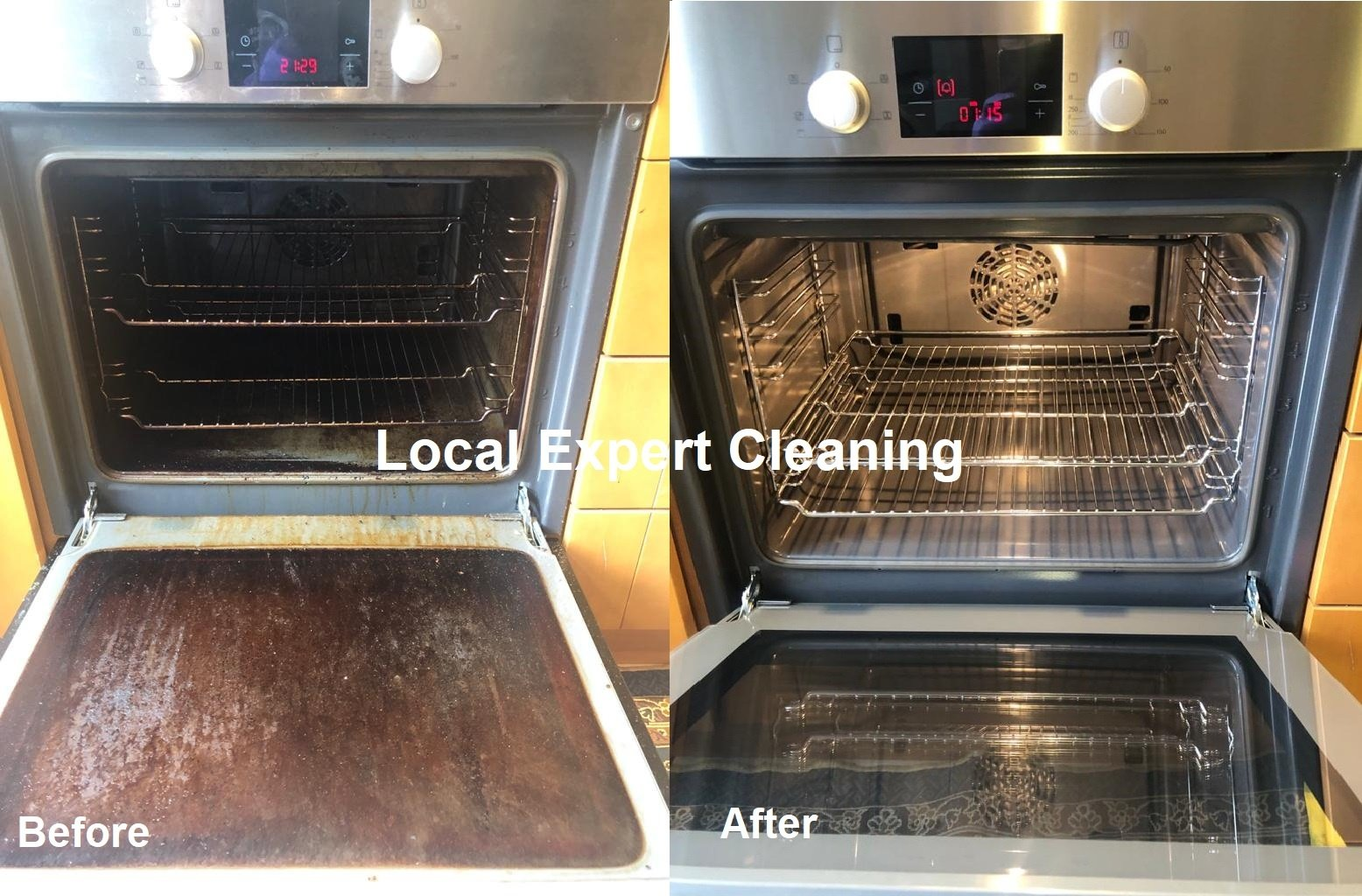 how to clean oven door glass best