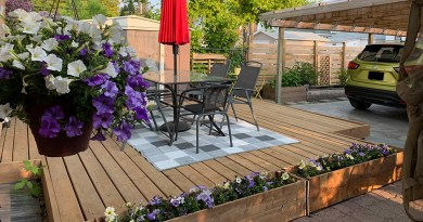 how to build a floating deck on a budget