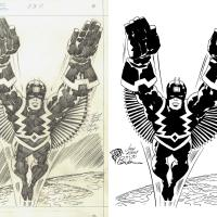 Jack Kirby Black Bolt Inked