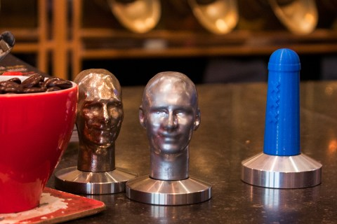 customised coffee tamper made in Amsterdam