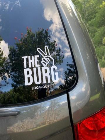 the burg window car decal sticker