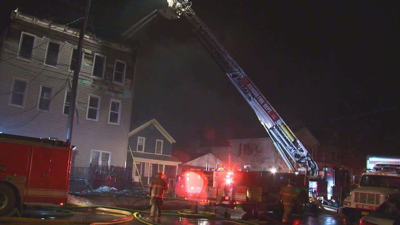 Oswego apartment fire