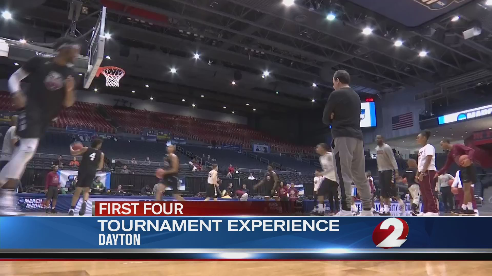 Fans flock to UD Arena ahead of First Four tipoff