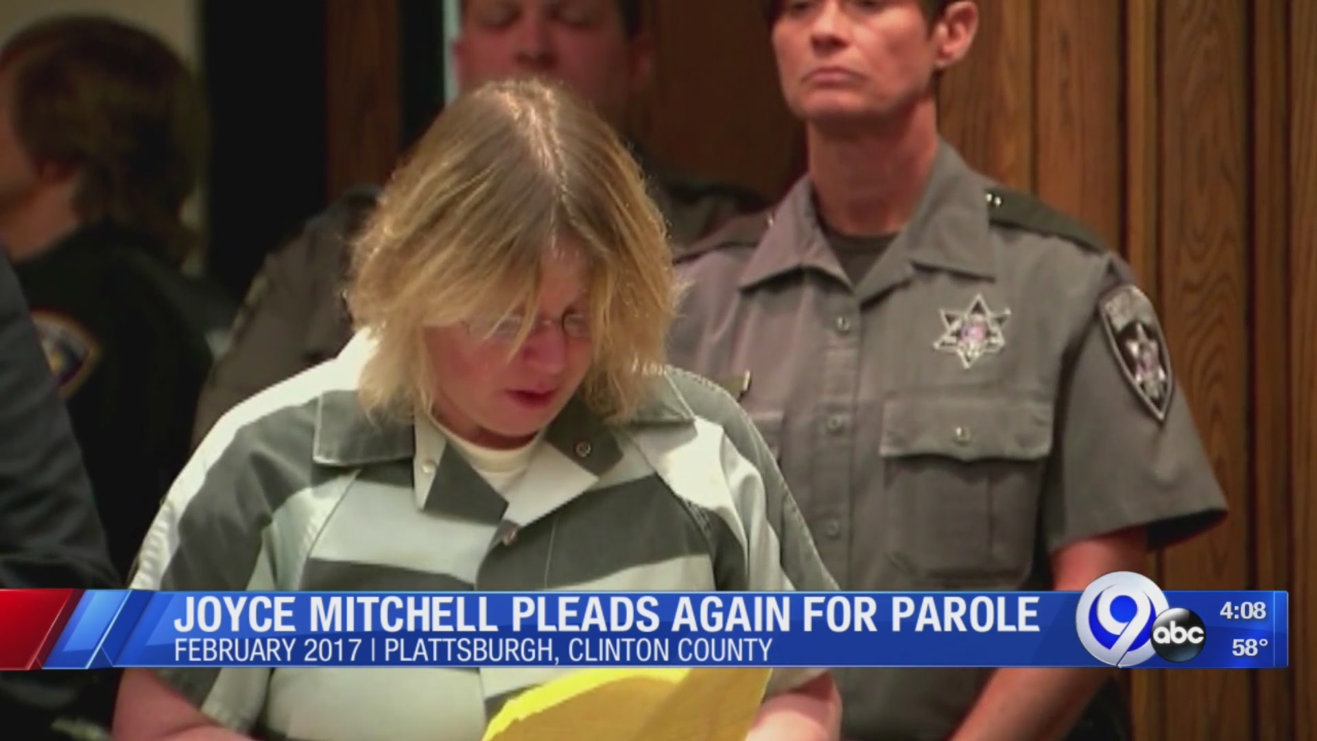 Joyce Mitchell up for parole next week