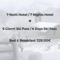 Hotel + Ski Pass Promozione Dicembre - Aprile