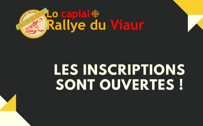 Rallye du Viaur Inscriptions