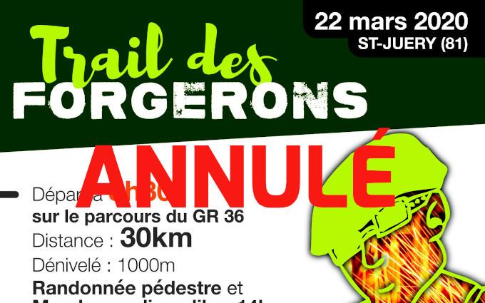 Trail des Forgerons annulé
