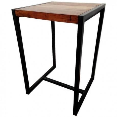 location table haute metal et bois