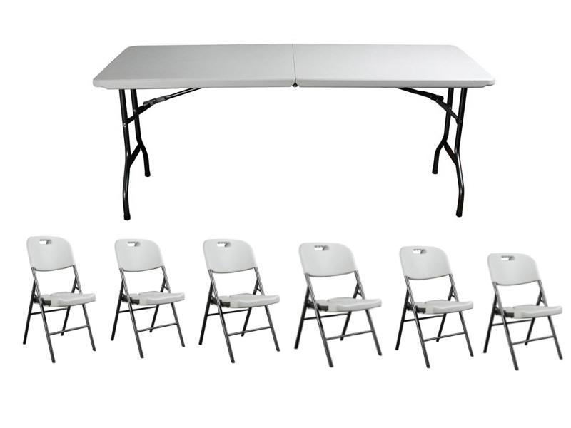 ensemble table et chaise pliants