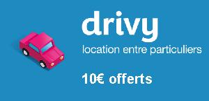 Drivy - 10€ offerts
