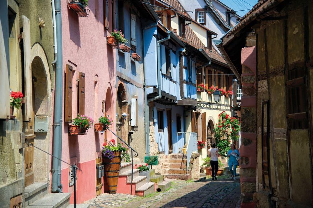 Riquewihr, plus beau village de la route des vins d'Alsace