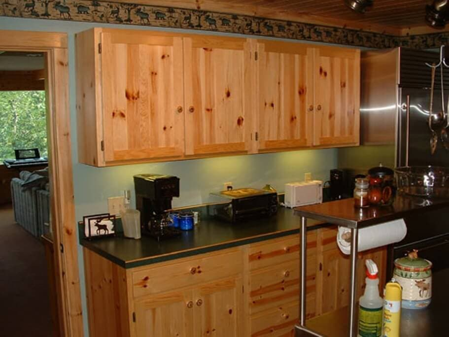 Knotty Pine Cabinets Painted Loccie Better Homes Gardens