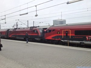 Railjet at Munich train station