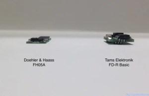 Tams FD-R Basic et DH FH05 (vue de côté)