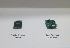 Tams FD-R Basic et DH FH05 (vue des connecteurs)