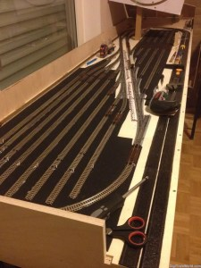 N-Scale fiddle yard in construction