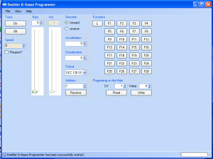 Logiciel Doehler & Haass Programmer: tests de décodeurs