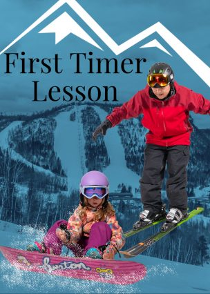 FIRST TIME LESSON (FOR SKI AND BOARD)