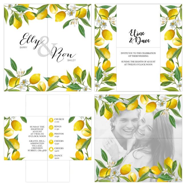 Lemon Turning Card Invitation