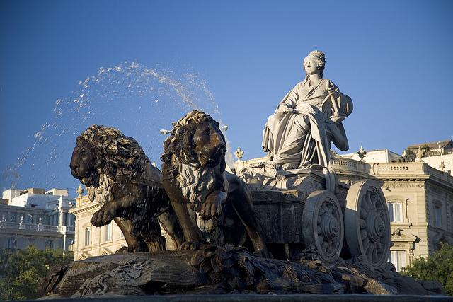Fuente de la Cibeles (imagen de Turismo de Madrid)