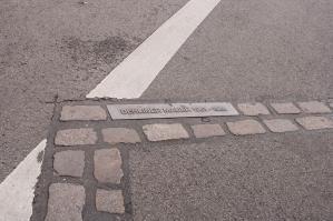 Por aquí pasaba el muro de Berlín