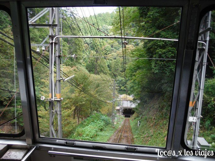En el funicular hacia Koyasan