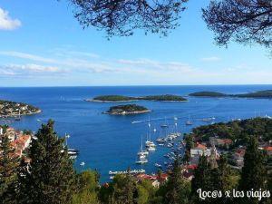 Islas Pakleni vistas desde la Fortaleza de Spanjol en la Isla de hvar