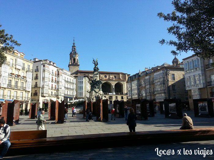 Plaza de la Virgen Blanca en Vitoria