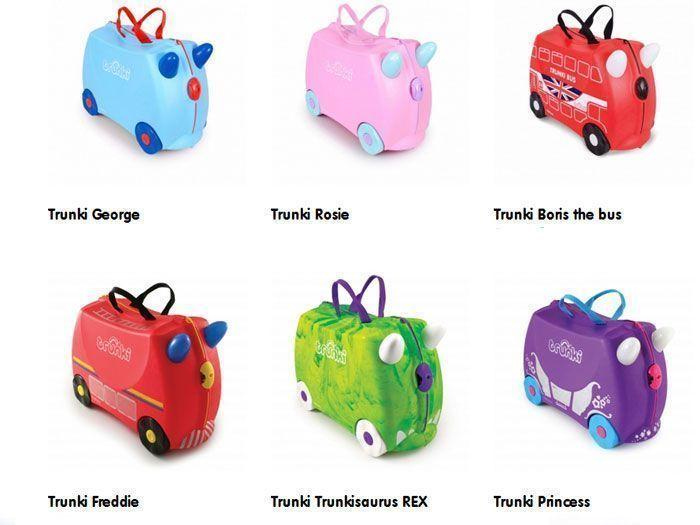 Algunos modelos de maletas trunkis