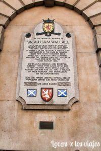 Londres Macabro: Placa de William Wallace