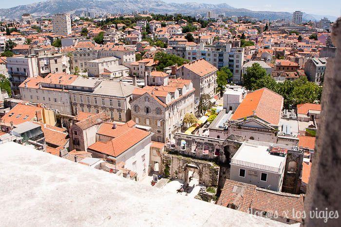 Split, vista desde las alturas de la catedral
