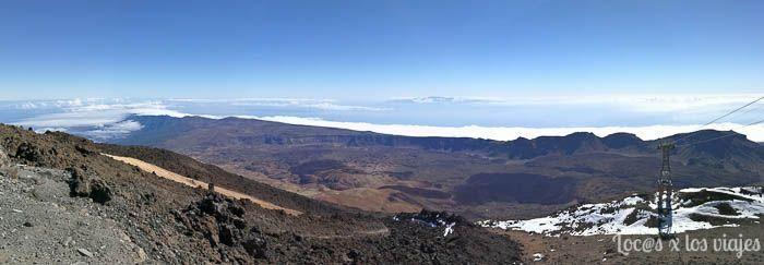 Vistas desde la estación superior del Teleférico del Teide